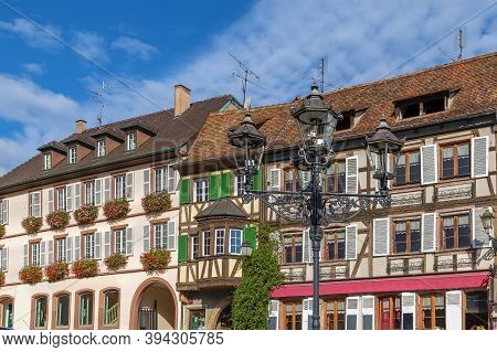 Historical Houses On Main Square In Barr, Alsace, France