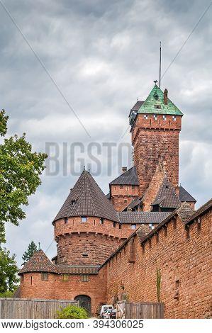 Haut-koenigsbourg Castle Is A Medieval Castle Located At Orschwiller, Alsace, France