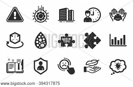 Lightweight, Recipe Book And Gear Icons Simple Set. Artificial Colors, Dislike And Builders Union Si