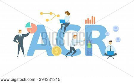 Acr, Adjusted Community Rating. Concept With Keywords, People And Icons. Flat Vector Illustration. I
