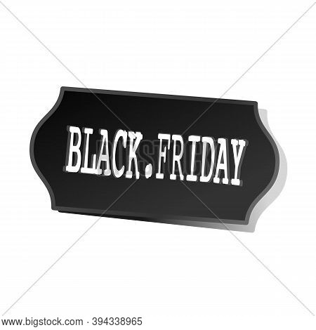Black Friday Sale Sticker. Price Tag With A Dot