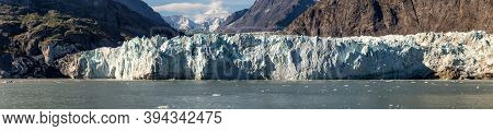 Panoramic View Of Margerie Glacier In Glacier Bay National Park And Preserve, Alaska, United States.