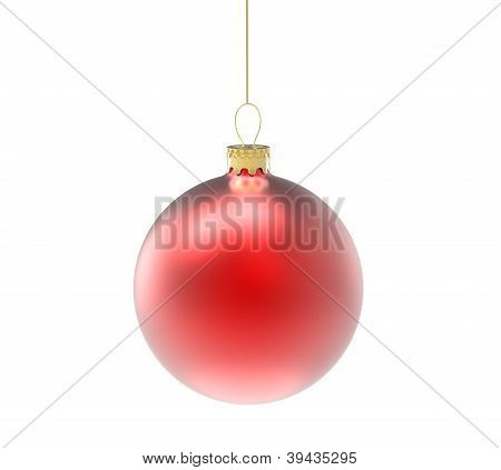 Three blue christmas ornaments or baubles