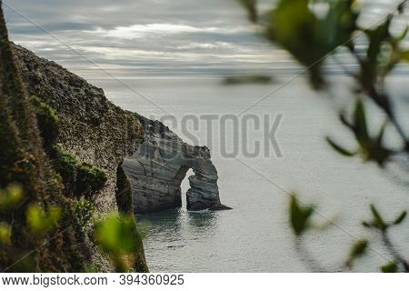 Cape Farewell On Cloudy Day, Amazing View From The Cliffs. New Zealand.