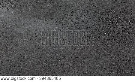 Texture Tarmac Road Surface Pedestrian Pavement Smooth Dark Gray Asphalt With Copy Space, Nobody.