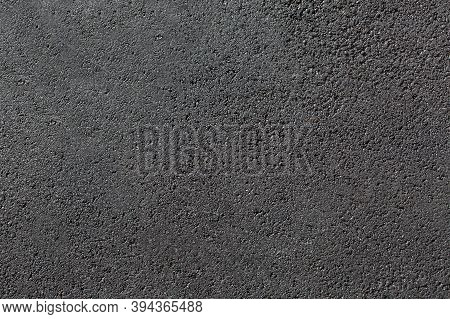 Texture New Tarmac Road Surface Pedestrian Pavement Without Marking Smooth Dark Gray Asphalt With Co