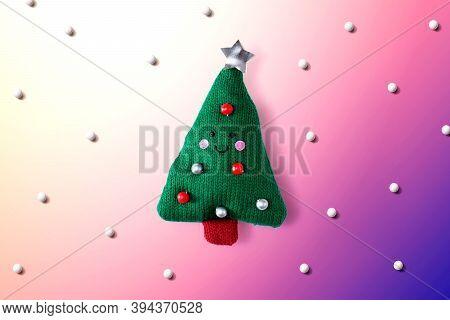 Christmas Cushion Tree Overhead View - Flat Lay