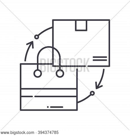 Supply And Demand Icon, Linear Isolated Illustration, Thin Line Vector, Web Design Sign, Outline Con