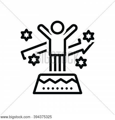 Black Line Icon For Motivation Motive Incentive Stimulus Inspiration Catalyst Encouragement Achievem