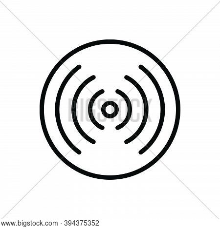 Black Line Icon For Point Spot End Aim Objective Center Focus Core