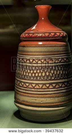 Closeup of a vase