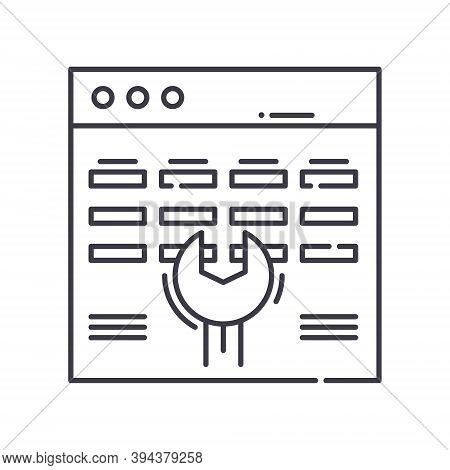 Service Shedule Icon, Linear Isolated Illustration, Thin Line Vector, Web Design Sign, Outline Conce