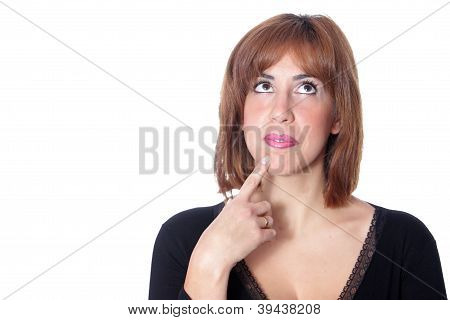 Beautiful Woman On White Background