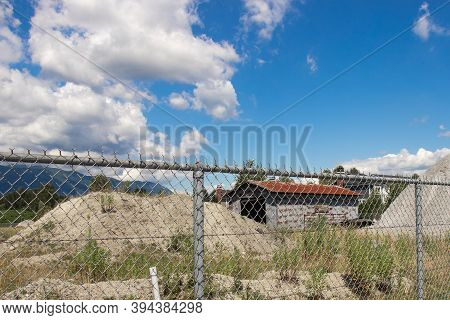 Port Coquitlam, Canada - July 13,2020:  Abandoned Barn Standing On Robert William