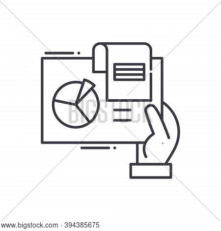Segmentation Icon, Linear Isolated Illustration, Thin Line Vector, Web Design Sign, Outline Concept