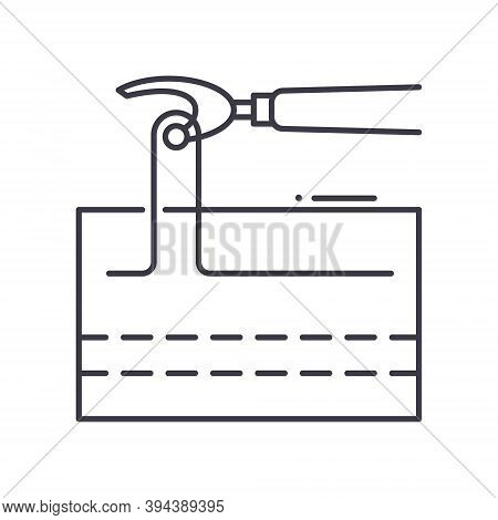 Seam Ripper Icon, Linear Isolated Illustration, Thin Line Vector, Web Design Sign, Outline Concept S