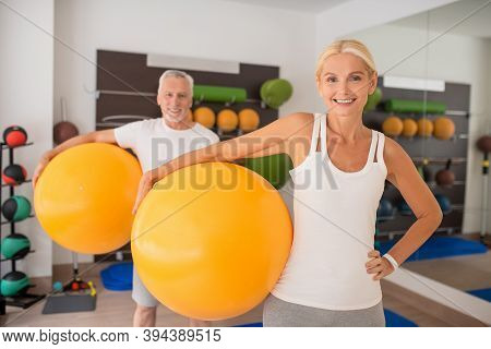 A Man And A Woman Having A Fitness Workout Together