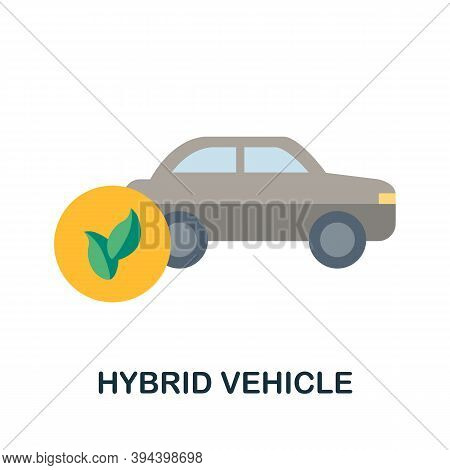 Hybrid Vehicle Icon. Simple Element From Electric Vehicle Collection. Creative Hybrid Vehicle Icon F