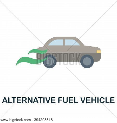 Alternative Fuel Vehicle Icon. Simple Element From Electric Vehicle Collection. Creative Alternative