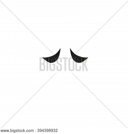 Vector Unicorn Eyelashes. Closed Woman Eyes. Vector Icon. Cute Design
