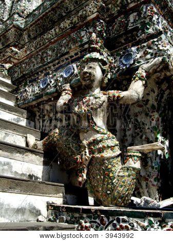 Angel Figure At The Base Of Central Prang Of Wat Arunratchawararam