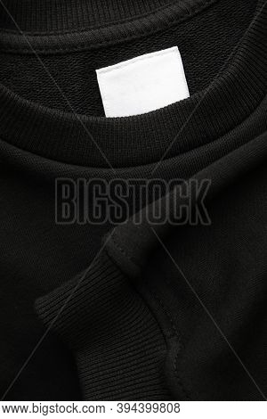 Blank Black Sweatshirt, Close Up And Space For Tet