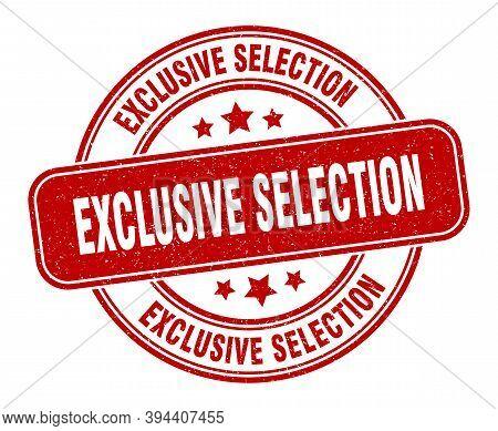 Exclusive Selection Stamp. Exclusive Selection Label. Round Grunge Sign