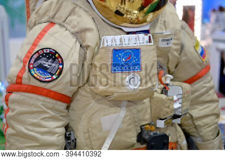 Costume Of A Russian Cosmonaut From The Iss Space Station - Moscow, Russia, 12 13 2019