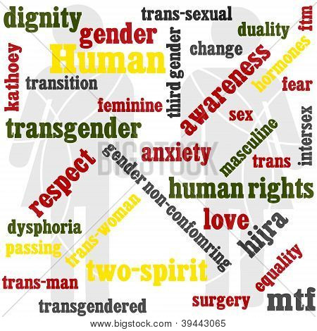 Transgender Word Graphic