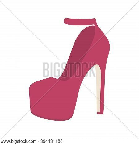 .red Sexy Stiletto Heels. Fashionable Women S High-heeled Shoes. Vector