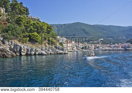 Parga, Old City View From A Tourist Boat, Epirus, Greece, Europe