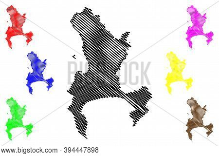 Cape Town City (republic Of South Africa, Rsa, Western Cape Province) Map Vector Illustration, Scrib