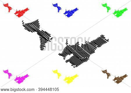 East London City (republic Of South Africa, Rsa, Eastern Cape Province) Map Vector Illustration, Scr
