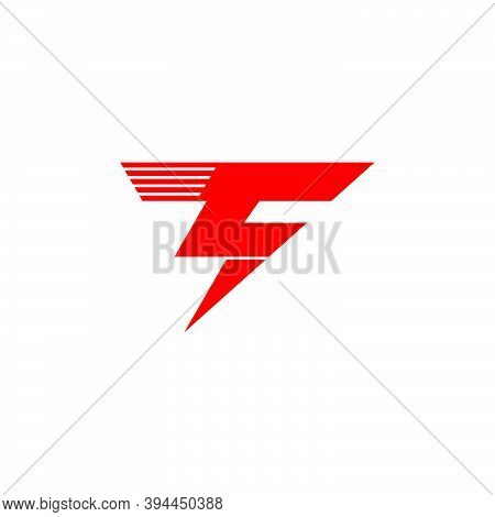 Letter T Geometric Thunder Symbol Simple Logo Vector