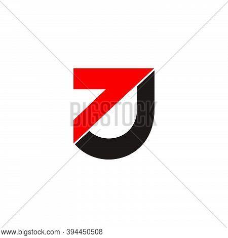 Letter J7 Arrow Geometric Logo Vector Unique