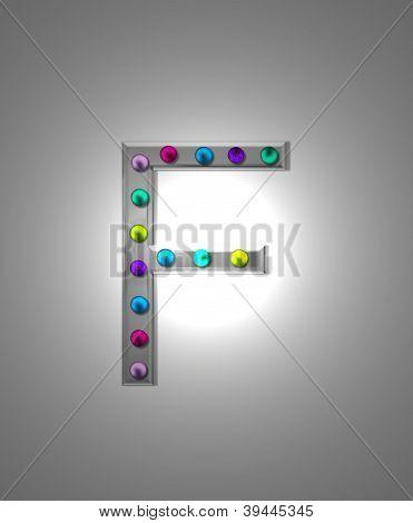 Alphabet Metal Marquee Ff
