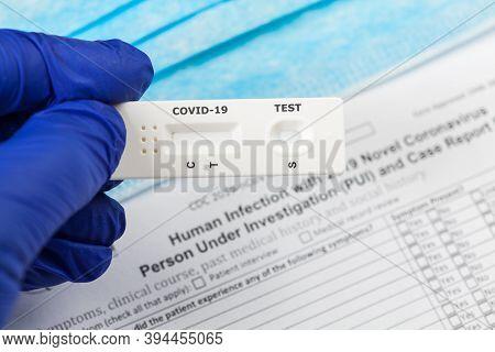 Covid-19 Virus Disease Test,coronavirus Crisis,global Pandemic Outbreak,rapid Strep Test Rst Kit,qui