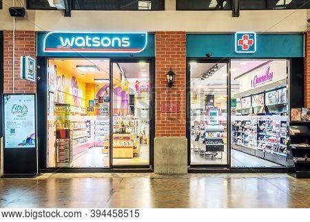 Bangkok,thailand - Nov 04, 2020:exterior View Of Watsons Pharmacy Store In Bangkok, Watsons Personal