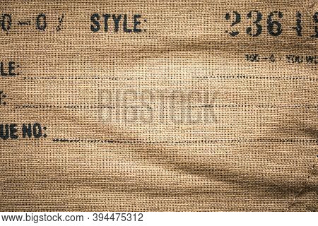 Good Old Cotton Fabric Texture. Vintage Background. Copy Space.
