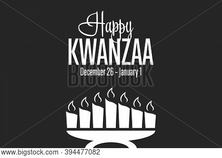 Happy Kwanzaa. December 26 Until January 1. Holiday Concept. Template For Background, Banner, Card,