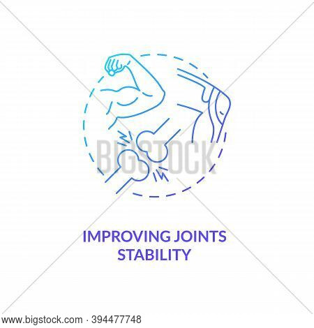 Improve Joint Stability Blue Gradient Concept Icon. Body Movement And Position. Health Care. Physiol