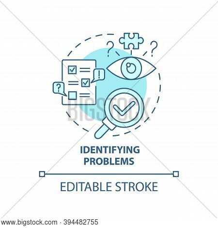 Identifying Problems Concept Icon. Business Consulting Task Idea Thin Line Illustration. Finding And
