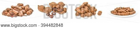 Set Of Tamarind Isolated On A White Cutout