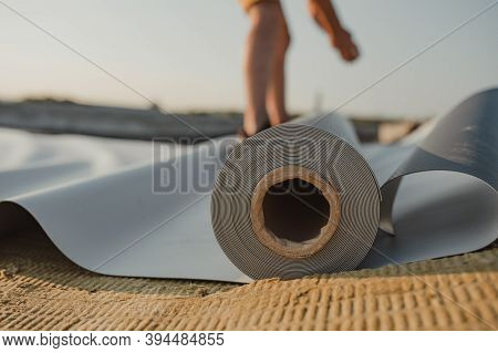 Roofing Pvc Membrane In Rolls And Geotextile
