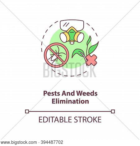 Pests And Weeds Elimination Concept Icon. Agriculture Machines Tasks. Crops Protection From Harm. Fa