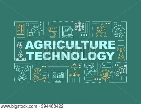 Agriculture Machinery Word Concepts Banner. Modern Farming Techniques. Infographics With Linear Icon