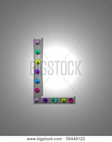 Alphabet Metal Marquee Ll