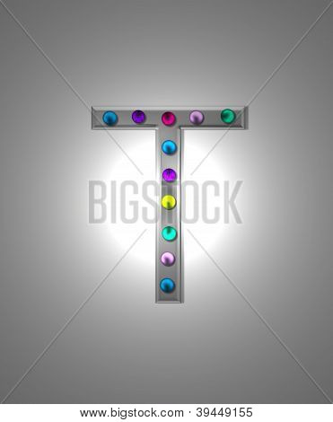 Alphabet Metal Marquee T