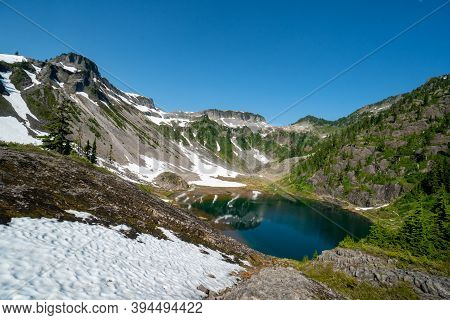 Scenic View Of Heather Meadows Area Of Mt Baker In Washington State