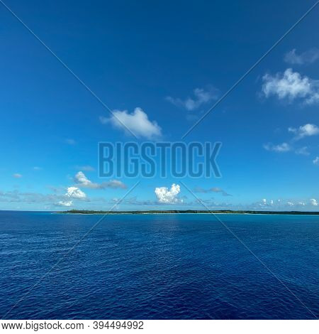 Half Moon Cay, Bahamas - October 31, 2019:  The Private Island Of Half Moon Cay In The Bahamas On A